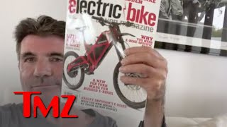 Simon Cowell Explains Difference Between New and Old Electric Bike | TMZ