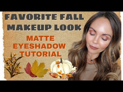 FAVORITE FALL MAKEUP 2019 | COLLAB WITH ERIN NICOLE TV | MATTE EYESHADOW LOOK thumbnail