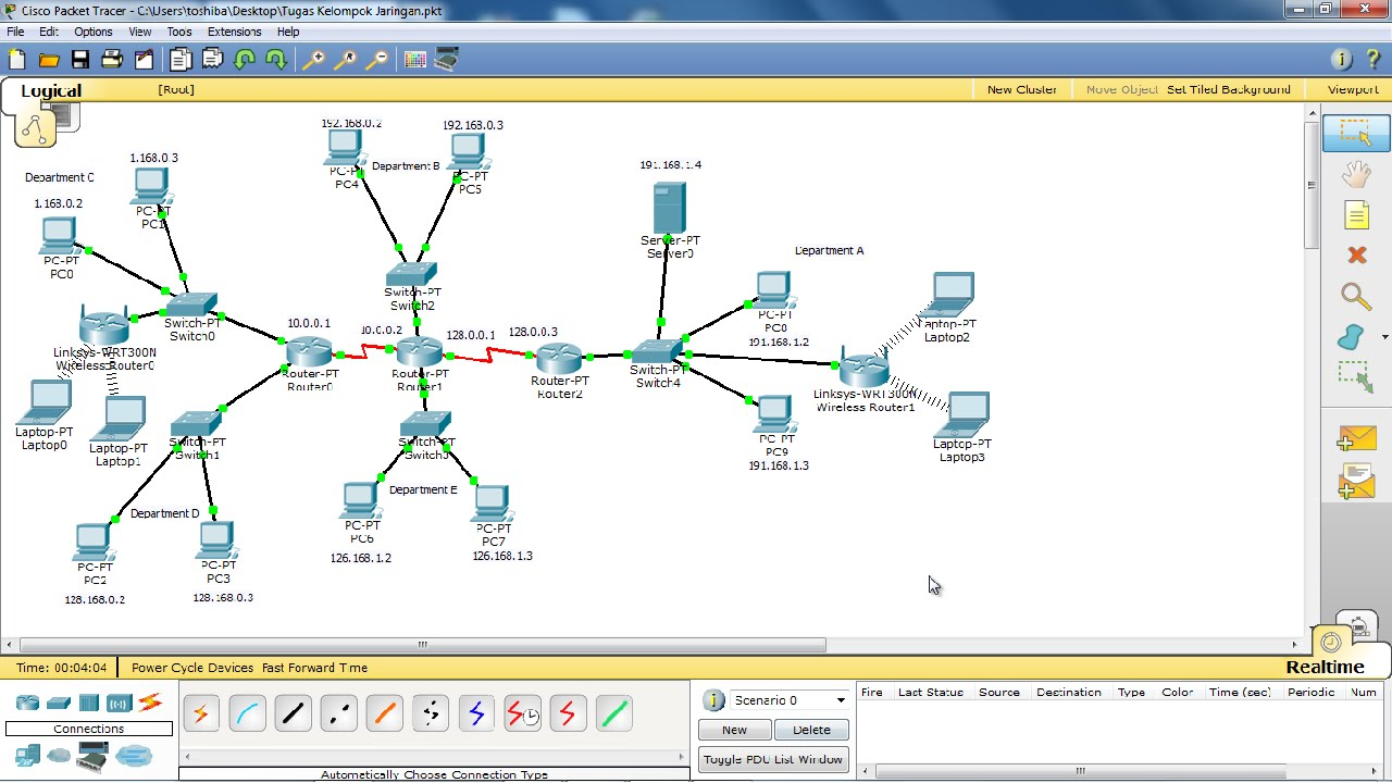 Simple Wan Diagram 2003 Yamaha Ttr 125 Wiring Create Computer Network With Cisco Packet Tracer Part 1 - Youtube