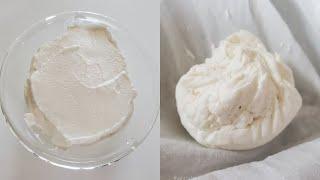 리코타 치즈를 만드는 2가지 방법(우유+생크림 vs 우…