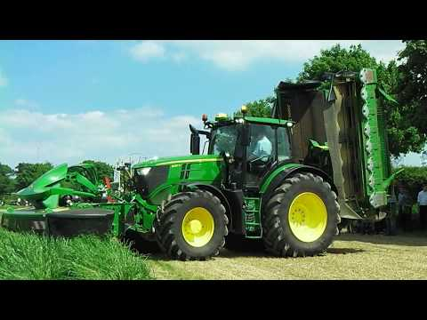 2017 John Deere 6250R With Triple Mower Conditioner