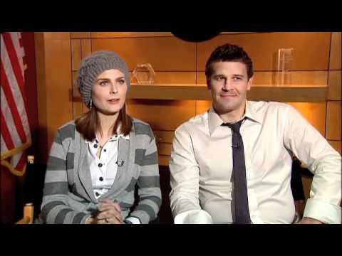 Bones david boreanaz and emily deschanel interview youtube