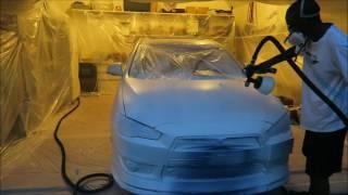 Plastidiping: My Lancer GT Matte white!!!
