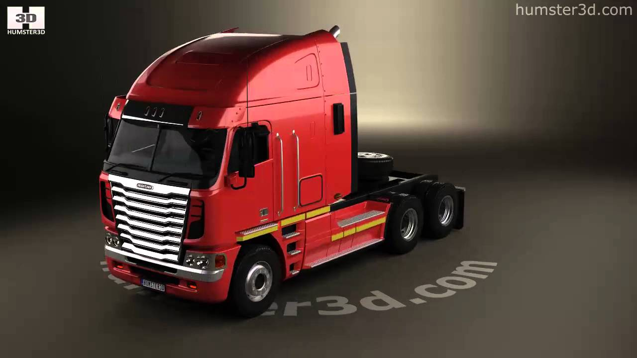 Freightliner argosy tractor truck 2011 3d model by humster3d com