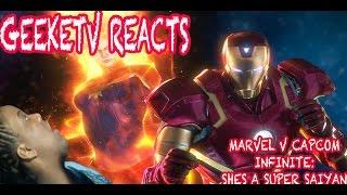 MARVEL V CAPCOM INFINITE TRAILER REACTION: SHE'S A SUPER SAIYAN