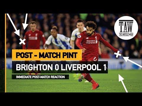 Brighton 0 rpool 1  Post Match Pint