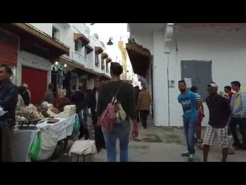(Spanish) woman walks in Morocco (Rabat)