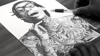 Wiz Khalifa Drawing - DeMoose Art