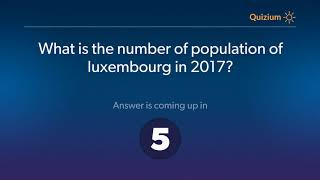 What is the number of population of luxembourg in 2017?   Luxembourg Quiz
