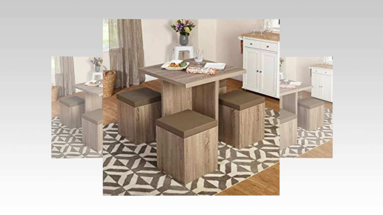 5 Piece Baxter Dining Set With Storage Ottoman Youtube