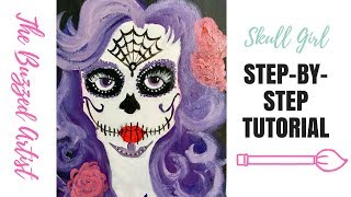 Dive into Dia De Los Muertos with this Step-by-Step Acrylic paintin...