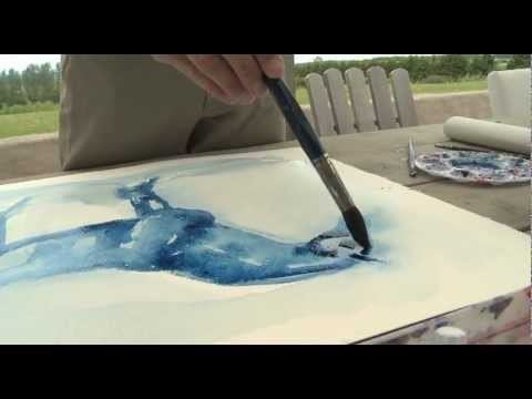 Peder the artist in action