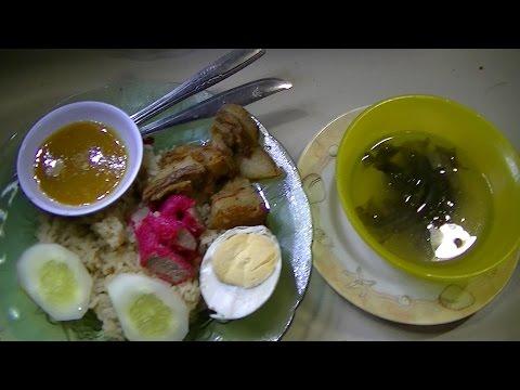 Jakarta Street Food 723 Non Halal HaiNam Rice  Nasi HaiNam Babe Johny T 88 BR TiVi 5226