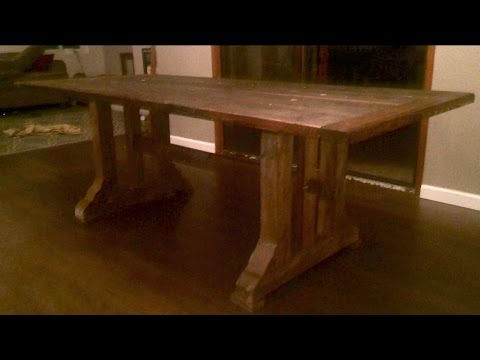 No Glue No Screw Timber Frame Table The Cliff Notes Youtube
