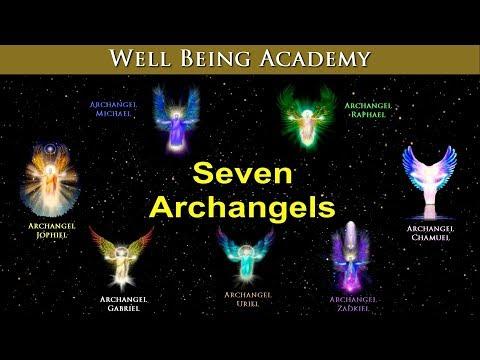 Seven Archangels - Michael, Raphael, Chamuel, Zadkiel, Uriel, Gabriel, Jophiel
