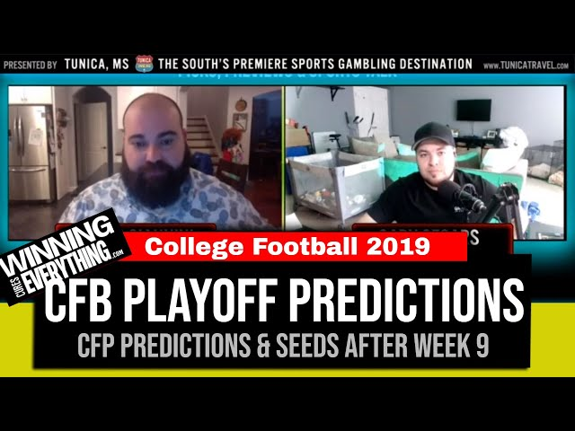 WCE: College Football Playoff Predictions after Week 9