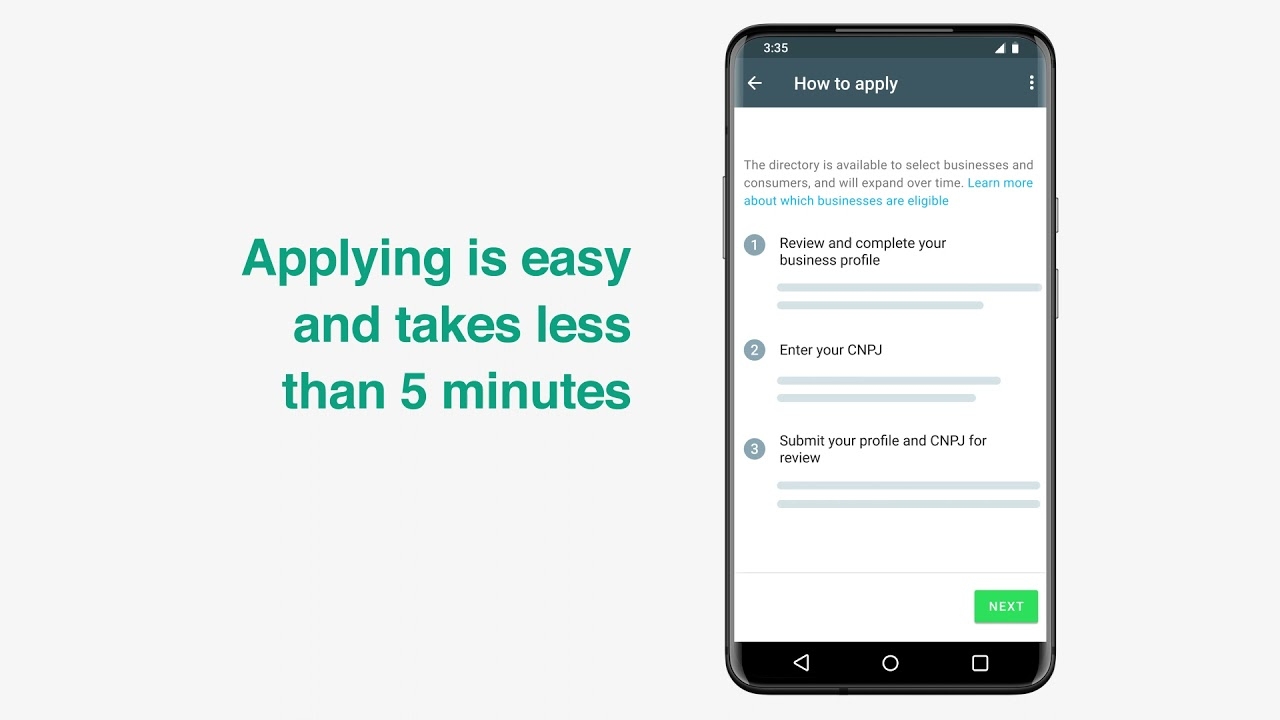 How to apply for the WhatsApp business directory