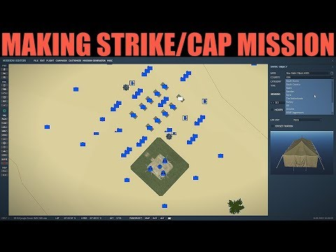 Mission Editor: Example Creating Small Strike & Cap Mission | DCS WORLD