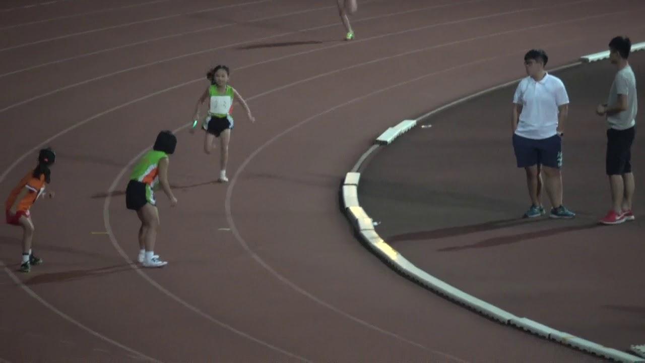 沙田區分齡田徑比賽2017 女子FF組4x100米決賽 - YouTube