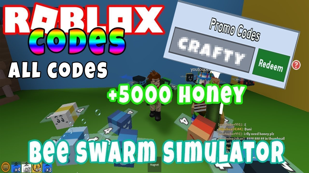 Bee Swarm Simulator Promo Codes 2019 Roblox Youtube