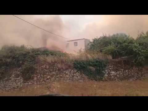 Se reaviva el incendio forestal en Aldeadávila de la Ribera