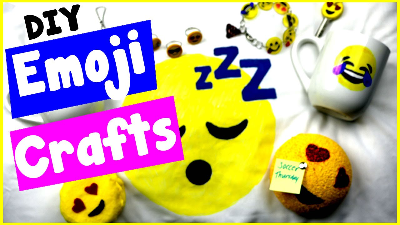 DIY Emoji Craft Ideas 10 Cool Project Tutorials Bracelets Candles Notepads More