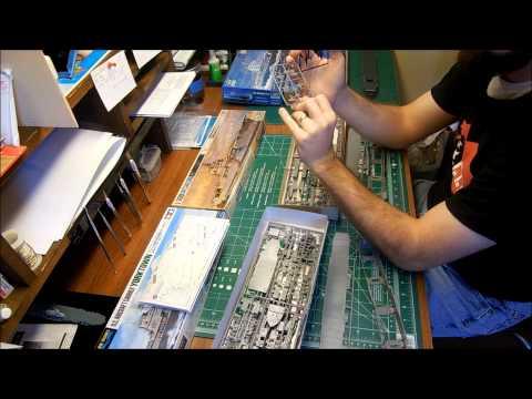 1:700 Scale Yorktown Class Model Kit Comparison