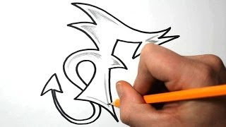 How to Draw Graffiti Letters - F