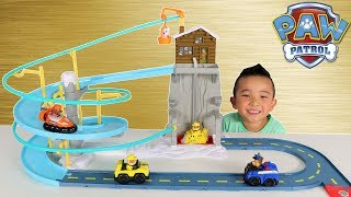 PAW PATROL Toys Rubbles Mountain Rescue Playset Unboxing fun With Ckn Toys