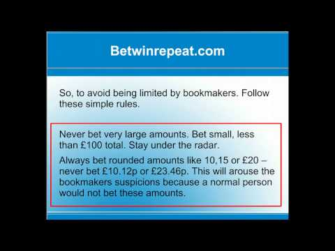 How to avoid being limited/suspended by bookmakers