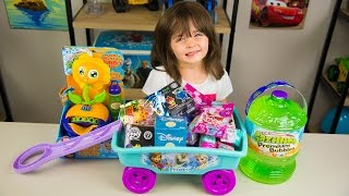 frozen surprise wagon my little pony shopkins funko mystery blind bags disney toys kinder playtime
