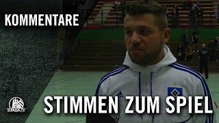 Die Stimmen zum Spiel (Hamburg Panthers - HSV Futsal, Finale, Futsal Final Four 2016) | ELBKICK.TV
