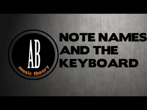 Video 06: ABRSM Grade 1 Music Theory: NOTE NAMES & THE KEYBOARD