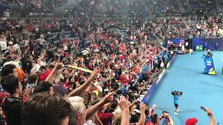 Slavlje Srpskih Navijača Posle Meč Lopte i Titule   SPORT KLUB TENIS