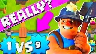 Clash Royale | Level 1 Vs Level 9 Trolling | Clash Royale Gameplay Strategy