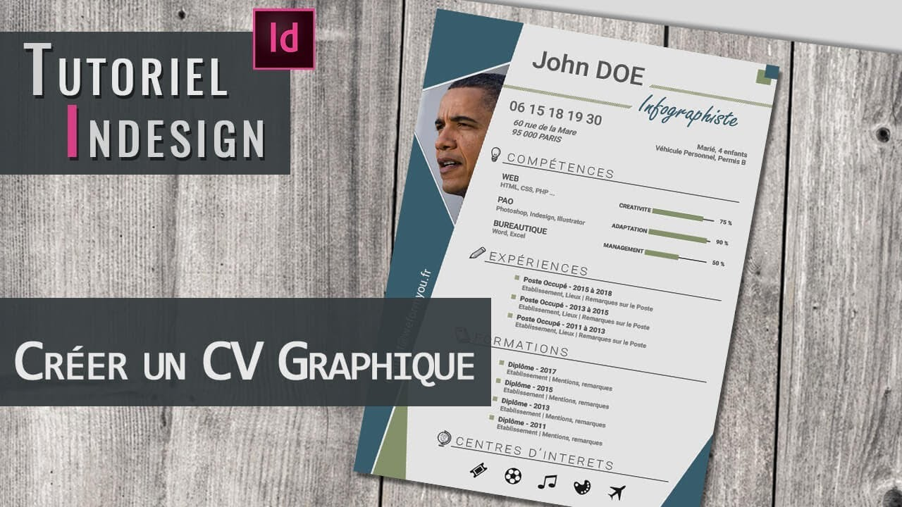 indesign faire un cv