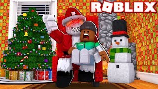 ESCAPE SANTA IN ROBLOX!! - Roblox Christmas