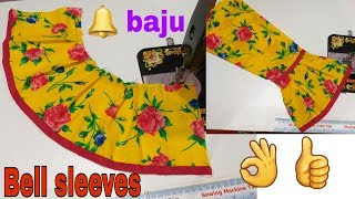 Bell sleeves cutting and stitching/umbrella sleeves cutting/umbrella baju ki cutting-207-YouTube