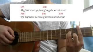 Gitar Dersi - Gün Gelir (Yarim gezdiğin yola bakarım...) Video