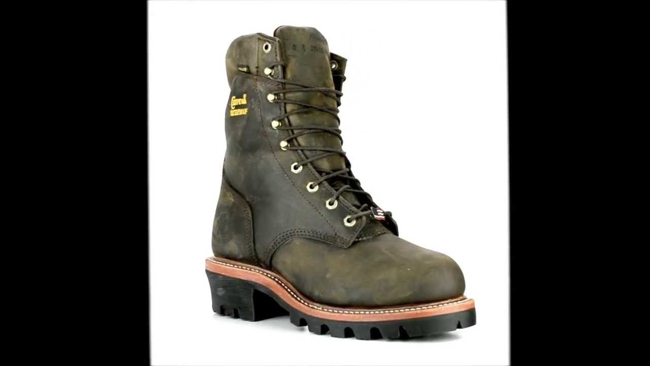 Men's Chippewa Boots 25405 Steel Toe Waterproof & Insulated Logger ...