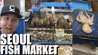 Incredible Seafood Market in Seoul, Korea ft. CORY MAY