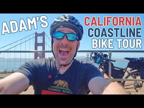 Adam's California Coastline Bicycle Tour - MY FIRST LONG BIKE RIDE!!!