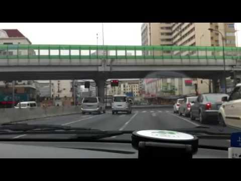 Cab ride in Shanghai