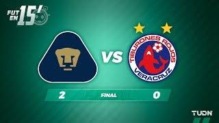 Fut en 15' Pumas 2 - 0 Veracruz | Liga Mx Apertura 2019   Jornada 5 | TUDN