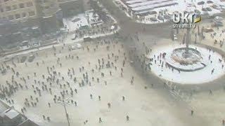 Беркут Вытеснил Протестующих с Грушевского. 2014