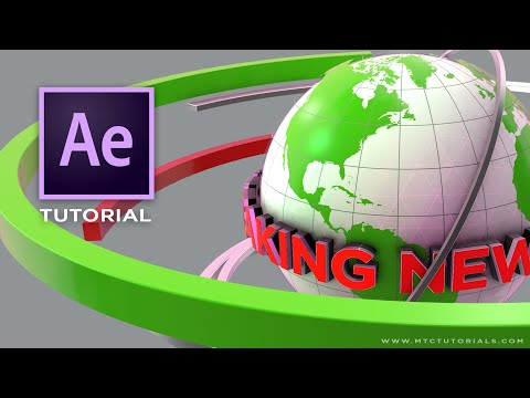 3D Broadcast Breaking News Opening Intro | Adobe After Effects Element 3D Tutorial | Part 1