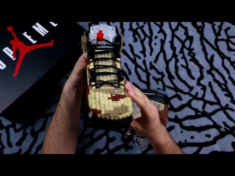 Unboxing Supreme x Air Jordan 5 - Built with Legos