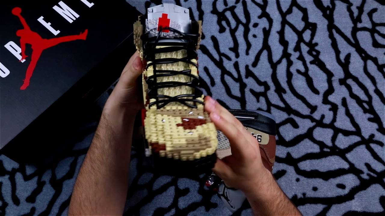 big sale 851c2 3ee67 Unboxing Supreme x Air Jordan 5 - Built with Legos - YouTube