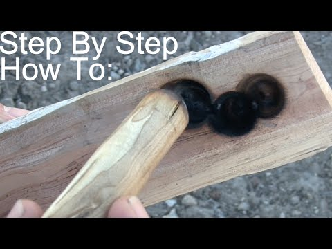How to: Bow Drill Fire / Primitive Friction Ember Making / Step By Step Instructions.