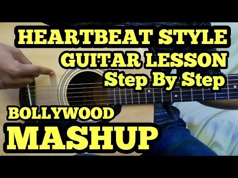 HEARTBEAT STYLE GUITAR LESSON | Janam Janam & Bol do na zara mashup | BOLLYWOOD PRECUSSIVE GUITAR